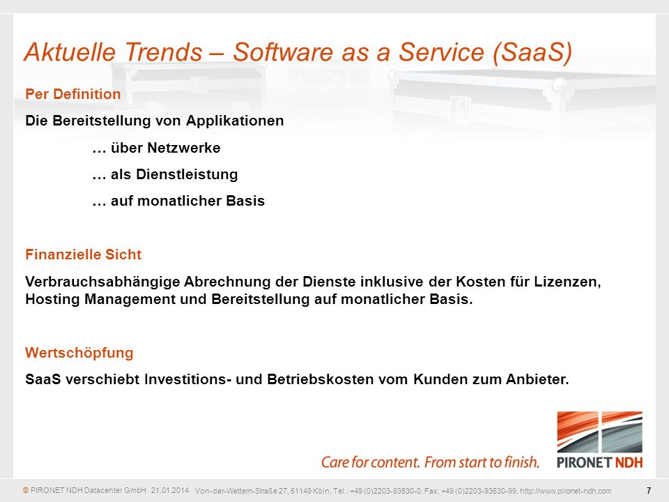 Aktuelle Trends – Software as a Service (SaaS)