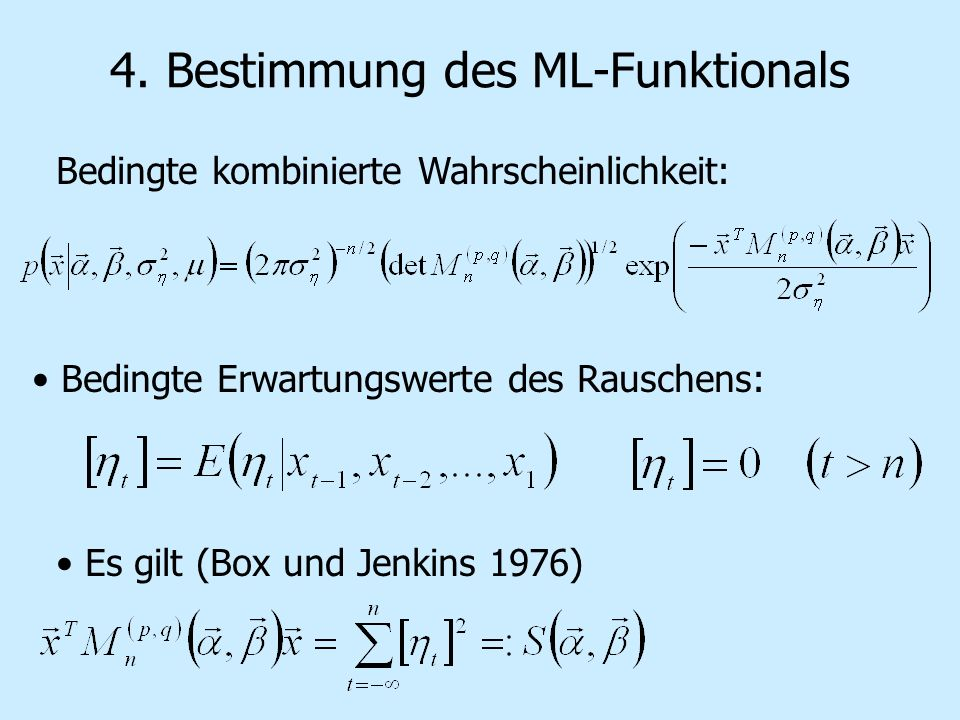 4. Bestimmung des ML-Funktionals