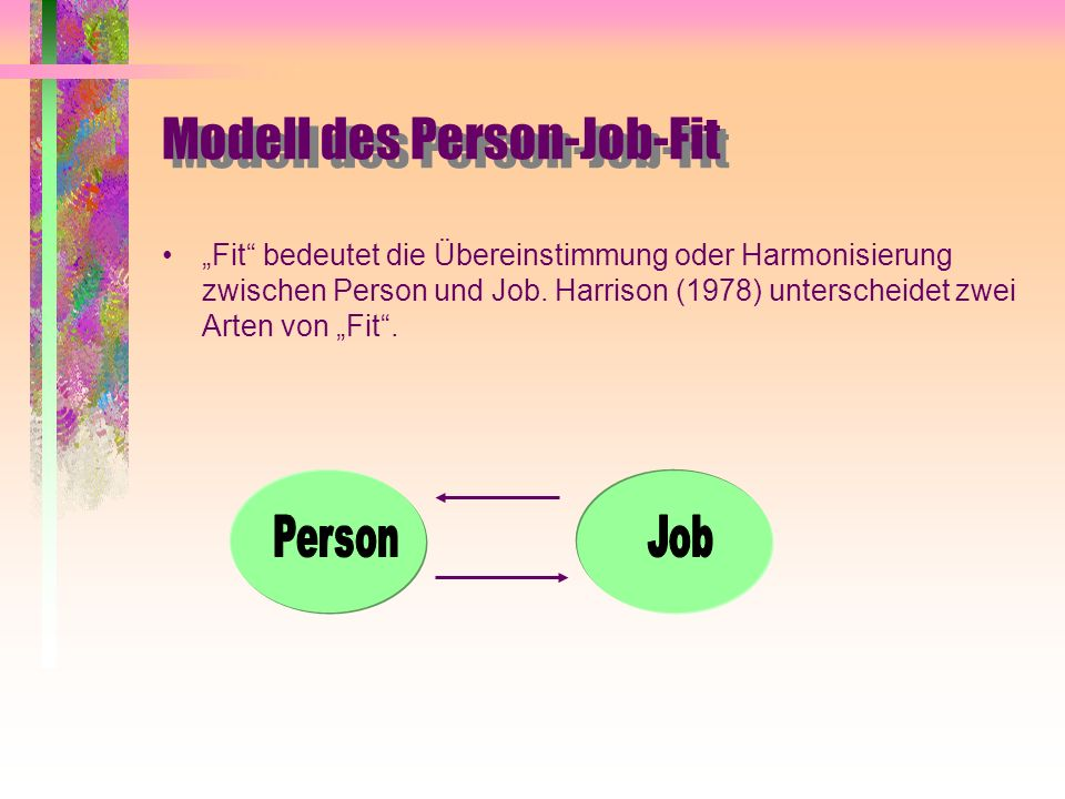 Modell des Person-Job-Fit