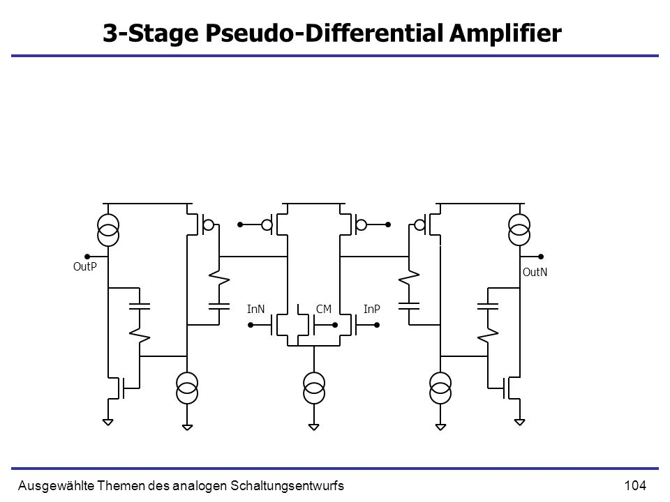 3-Stage Pseudo-Differential Amplifier