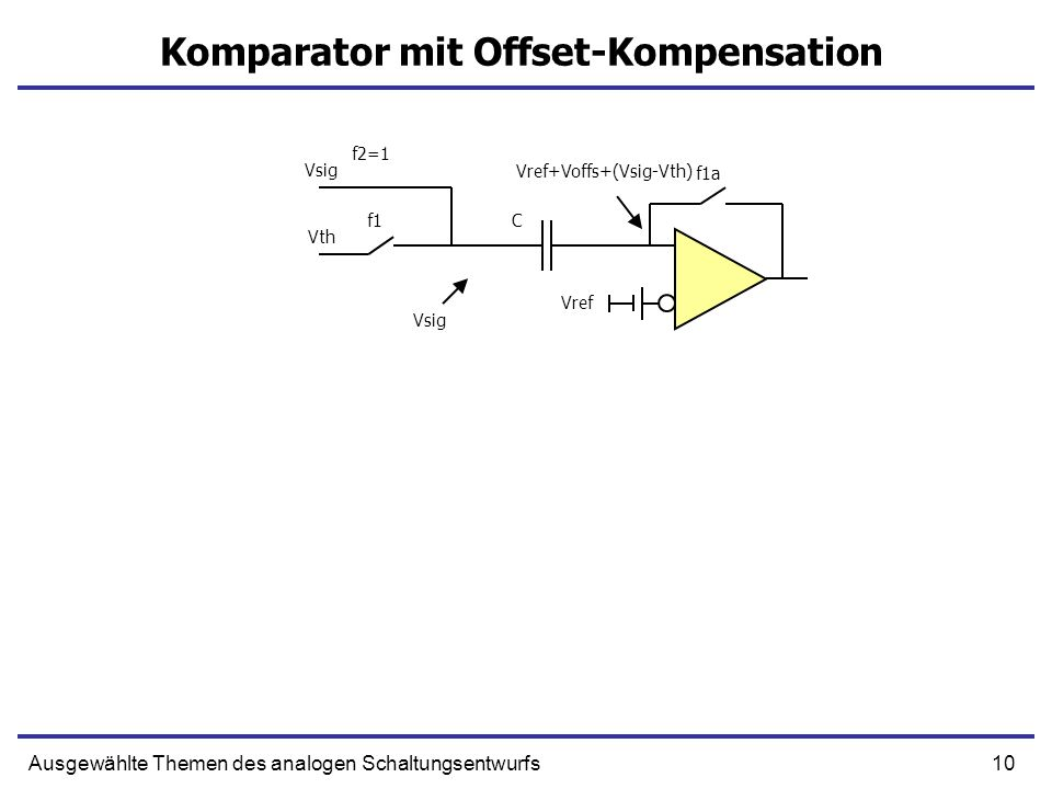 Komparator mit Offset-Kompensation