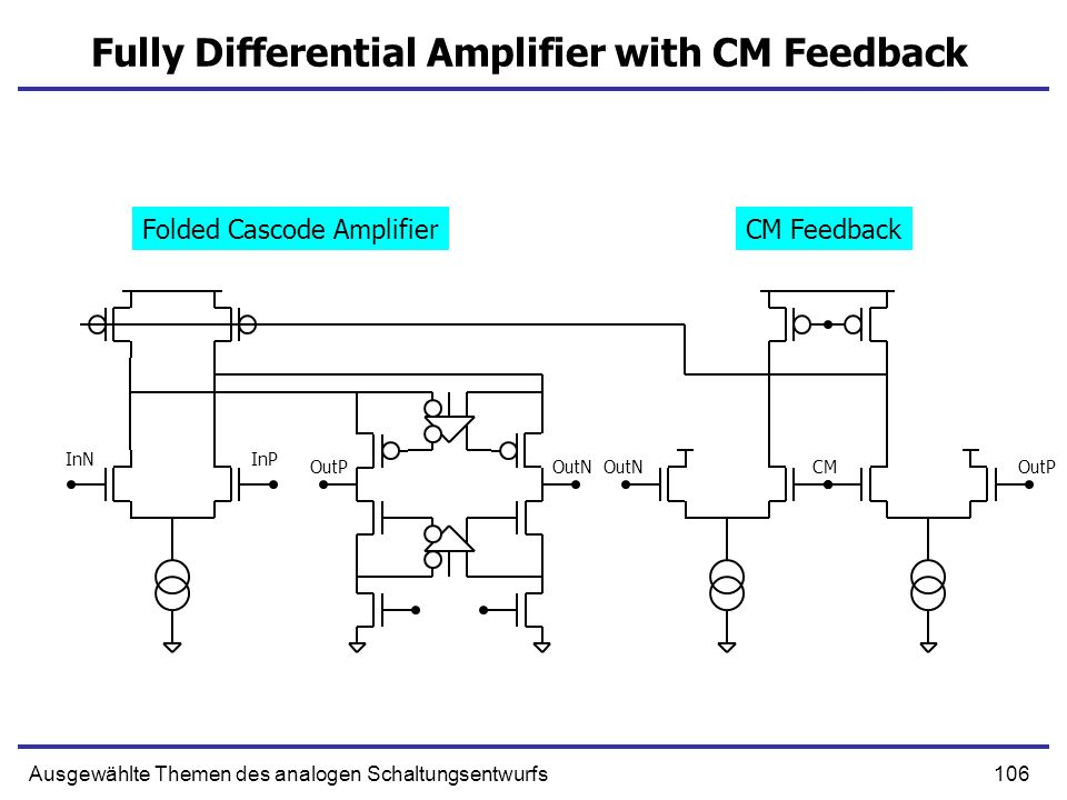 Fully Differential Amplifier with CM Feedback