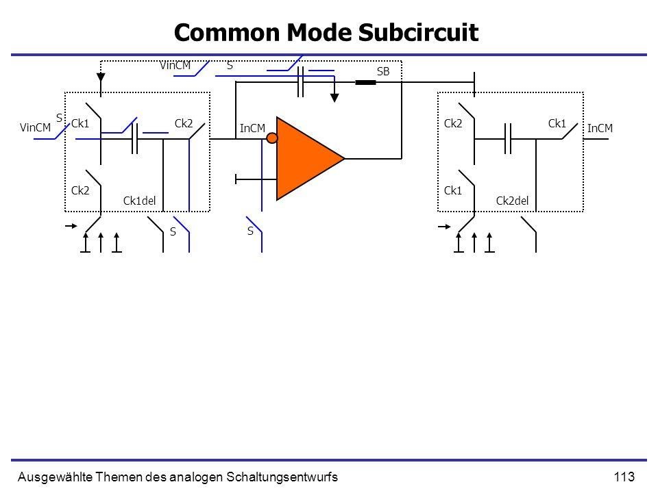 Common Mode Subcircuit