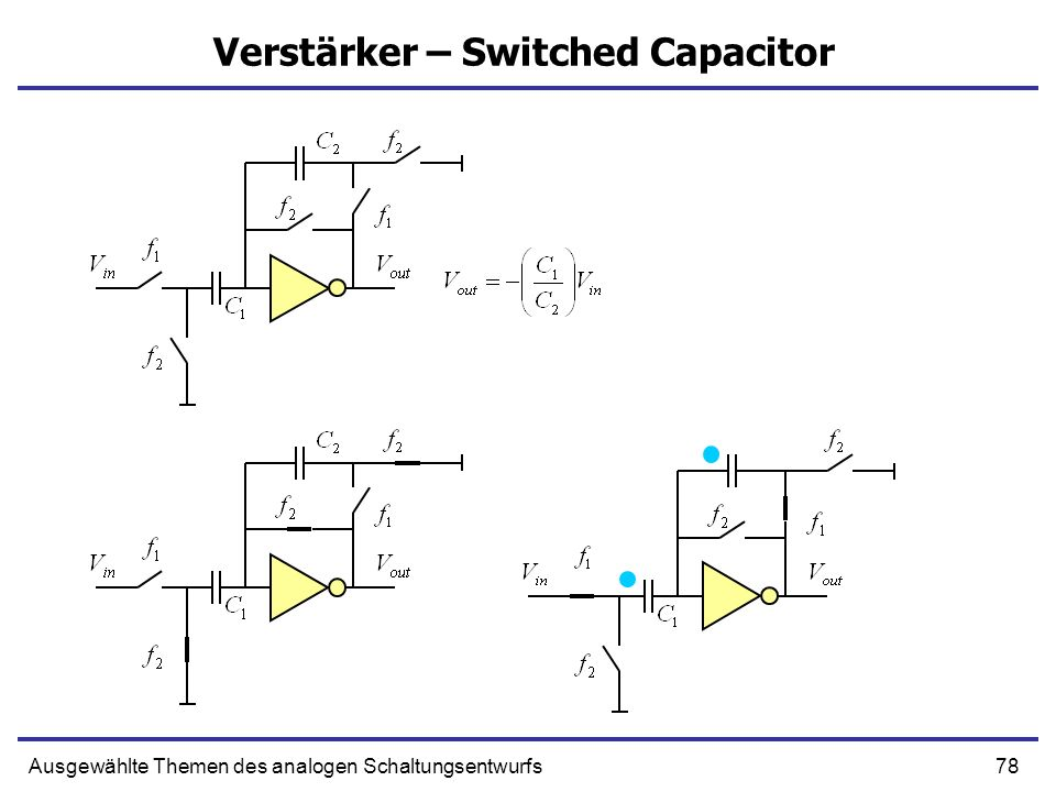 Verstärker – Switched Capacitor