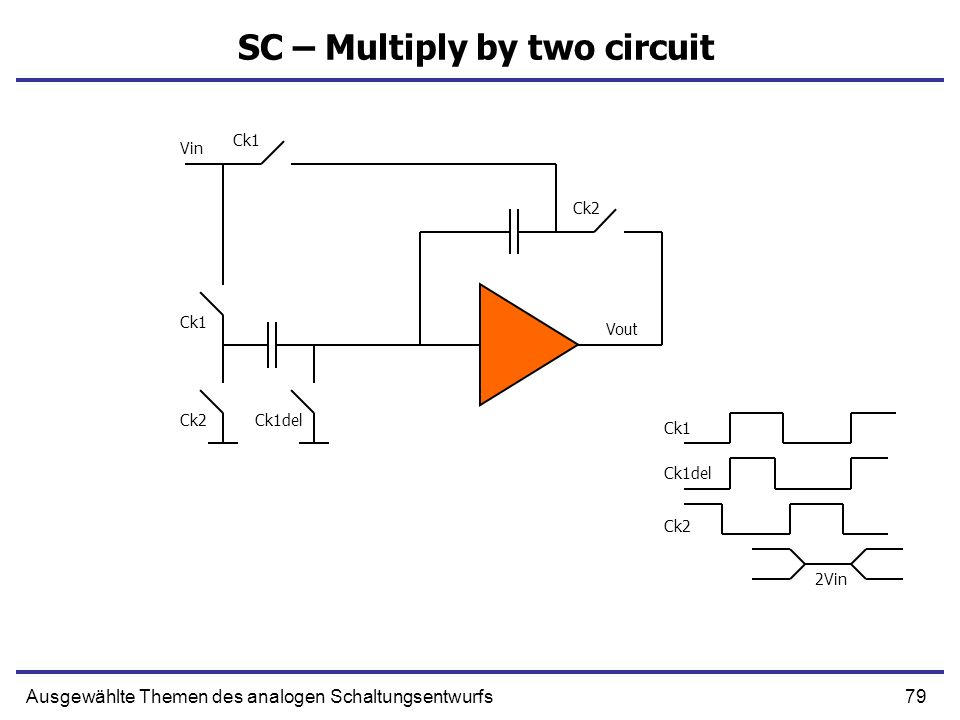 SC – Multiply by two circuit