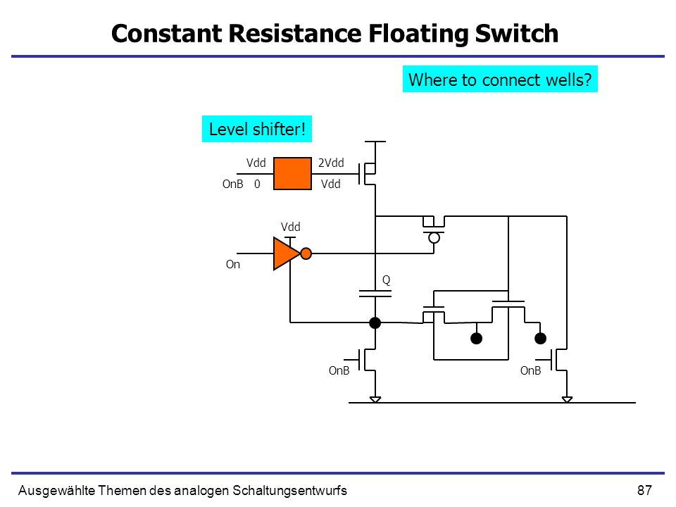 Constant Resistance Floating Switch