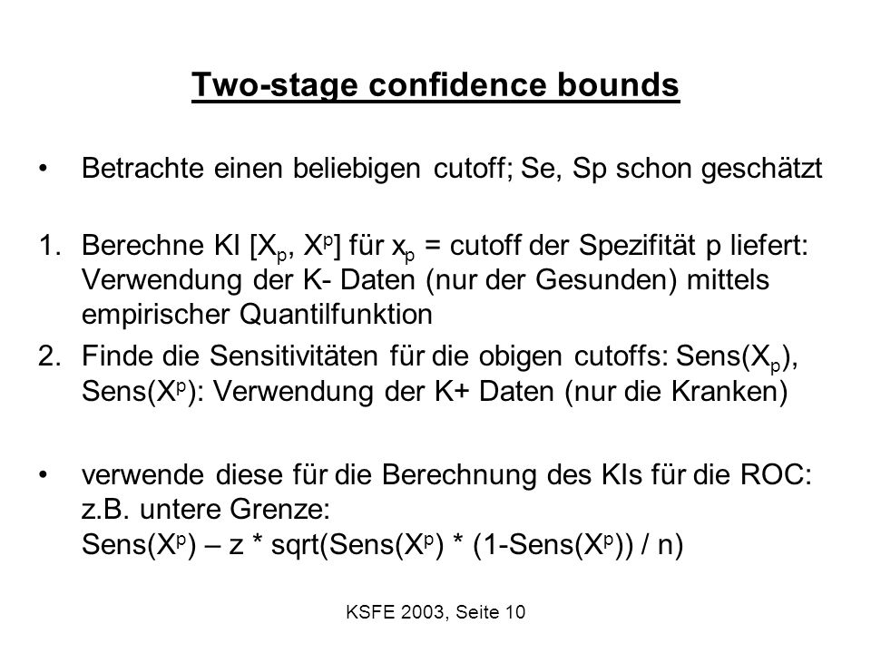 Two-stage confidence bounds