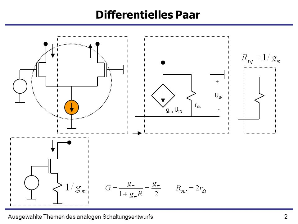 Differentielles Paar UIN rds gm UIN