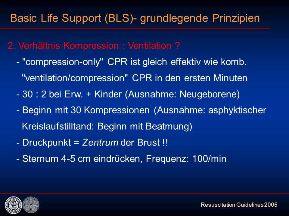 Basic Life Support (BLS)- grundlegende Prinzipien