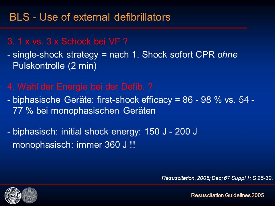 BLS - Use of external defibrillators