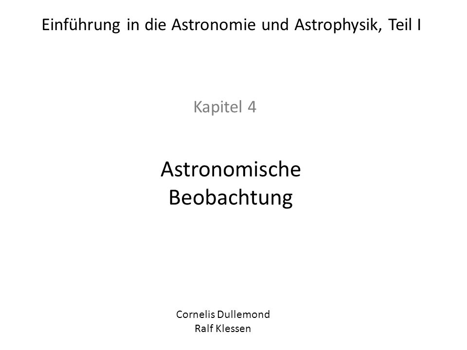 Astronomische Beobachtung