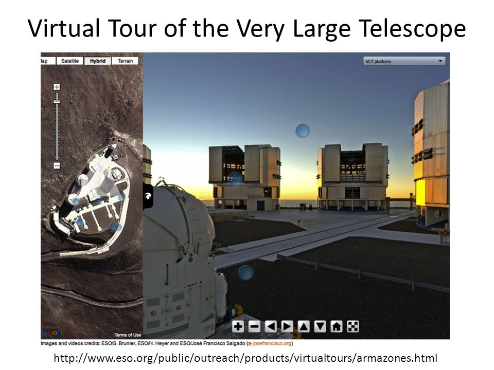 Virtual Tour of the Very Large Telescope