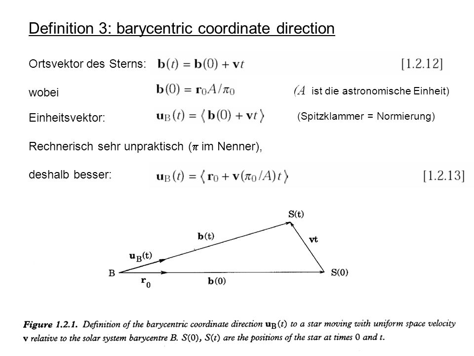 Definition 3: barycentric coordinate direction