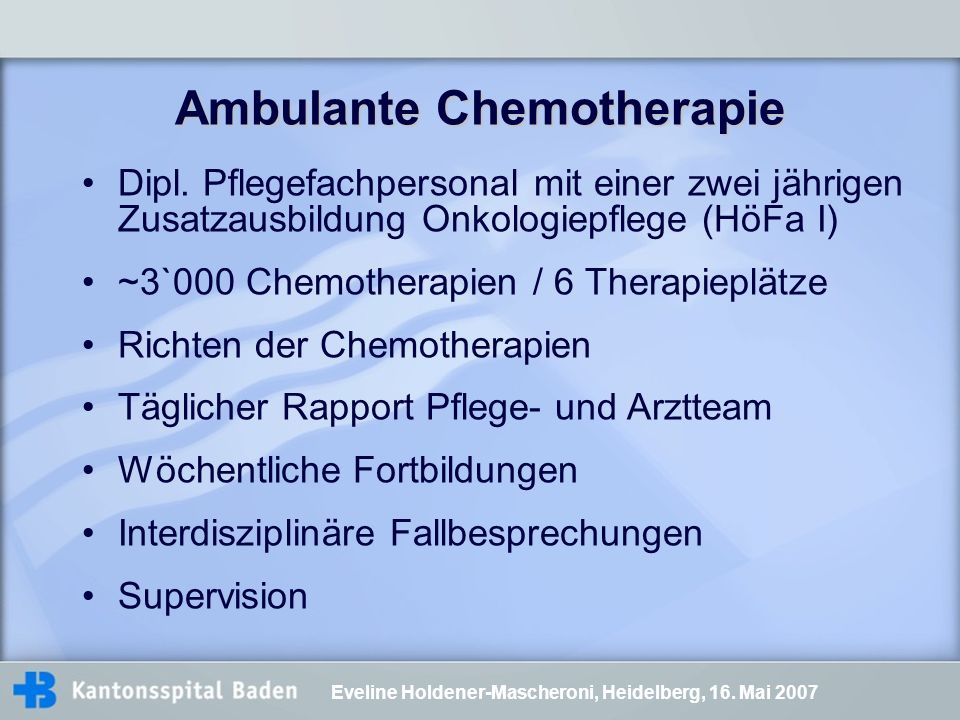 Ambulante Chemotherapie