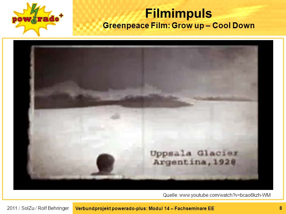 Filmimpuls Greenpeace Film: Grow up – Cool Down