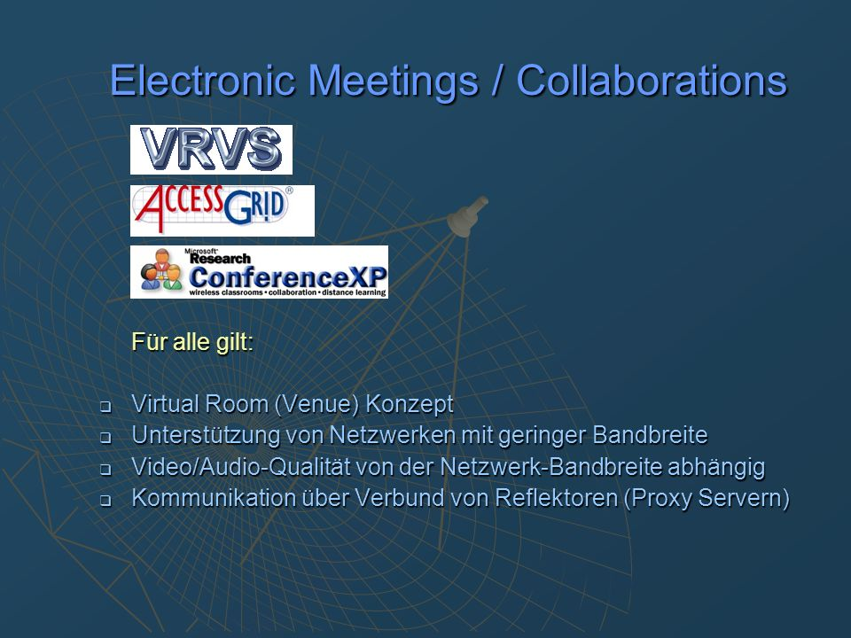 Electronic Meetings / Collaborations