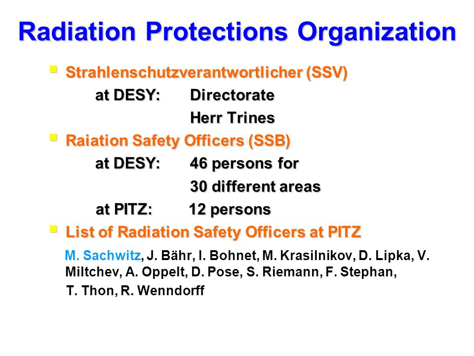 Radiation Protections Organization