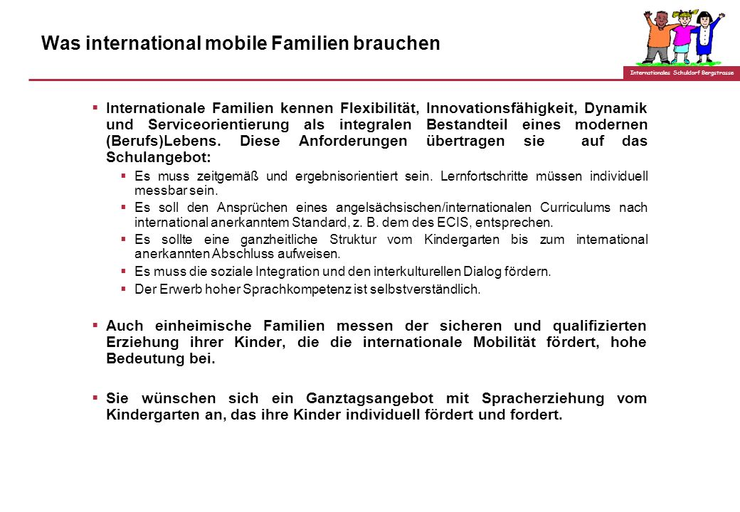 Was international mobile Familien brauchen