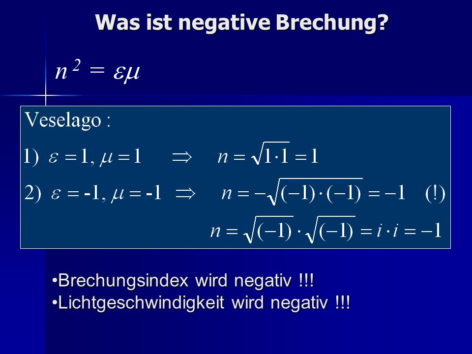 Was ist negative Brechung