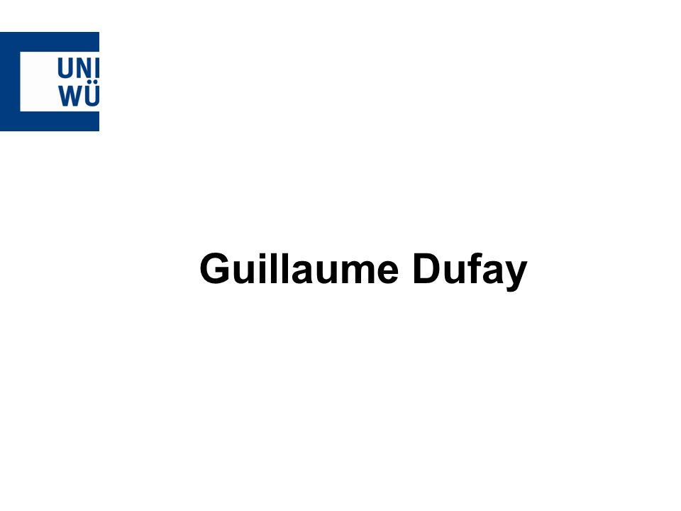 Guillaume Dufay
