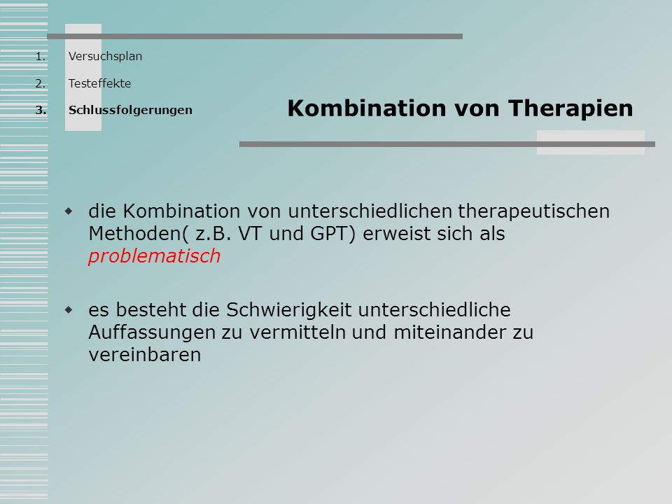 Kombination von Therapien