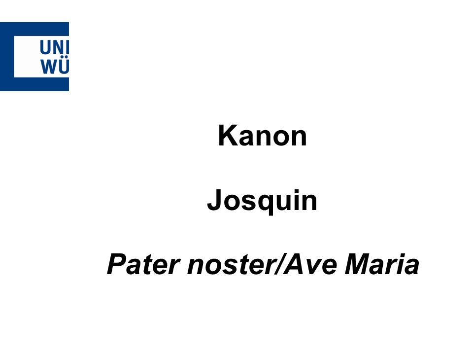 Pater noster/Ave Maria