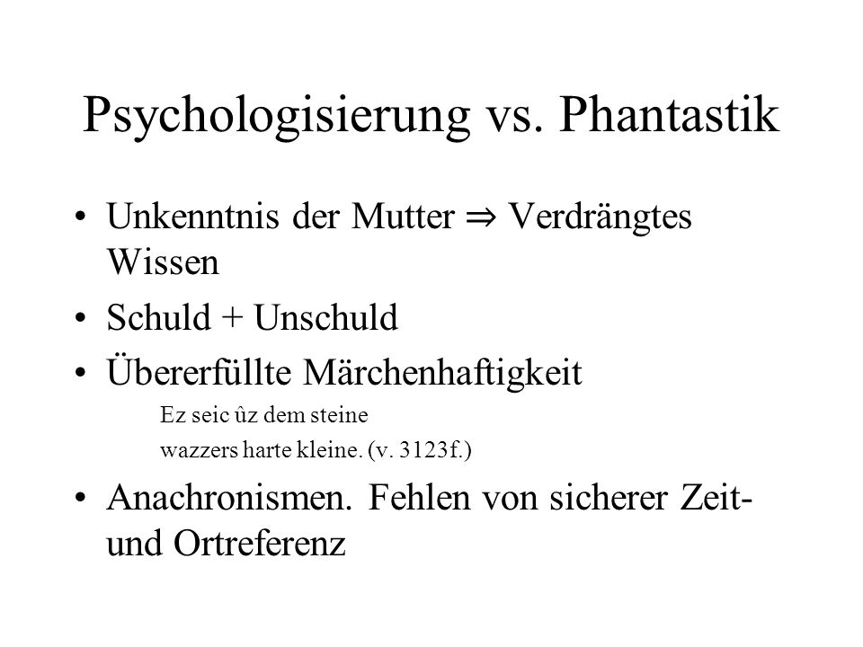 Psychologisierung vs. Phantastik