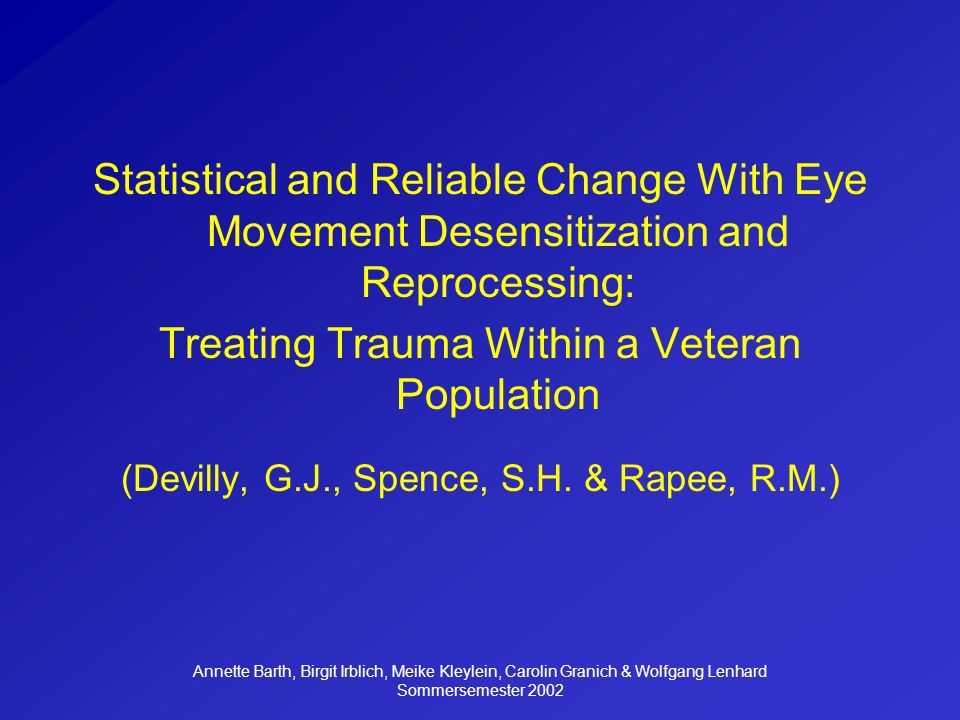 Treating Trauma Within a Veteran Population