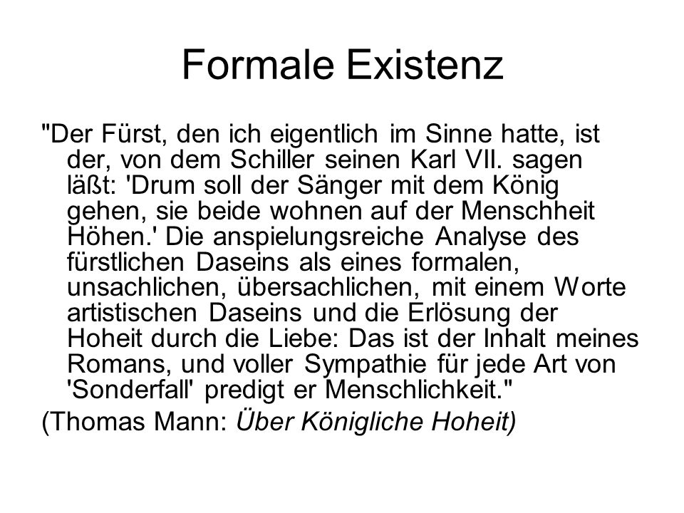 Formale Existenz