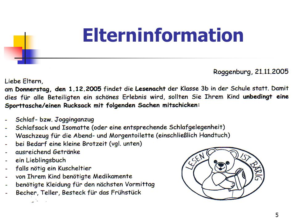 Elterninformation