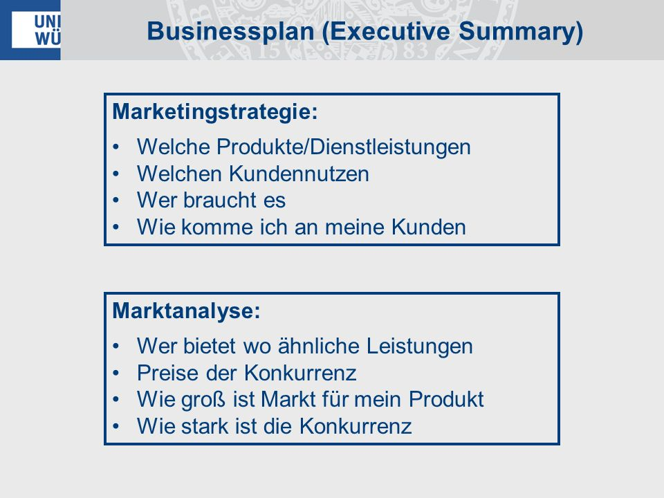 Businessplan (Executive Summary)