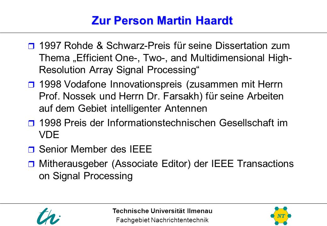 Zur Person Martin Haardt