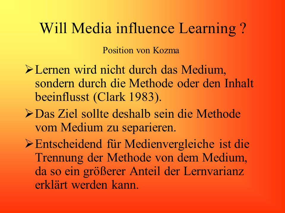 Will Media influence Learning