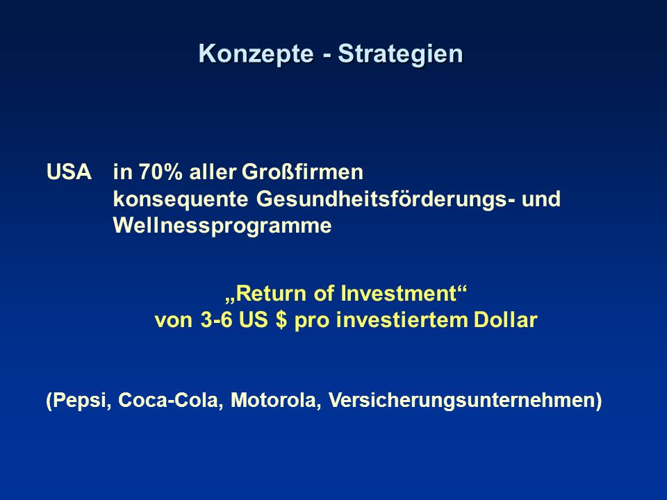 """Return of Investment von 3-6 US $ pro investiertem Dollar"