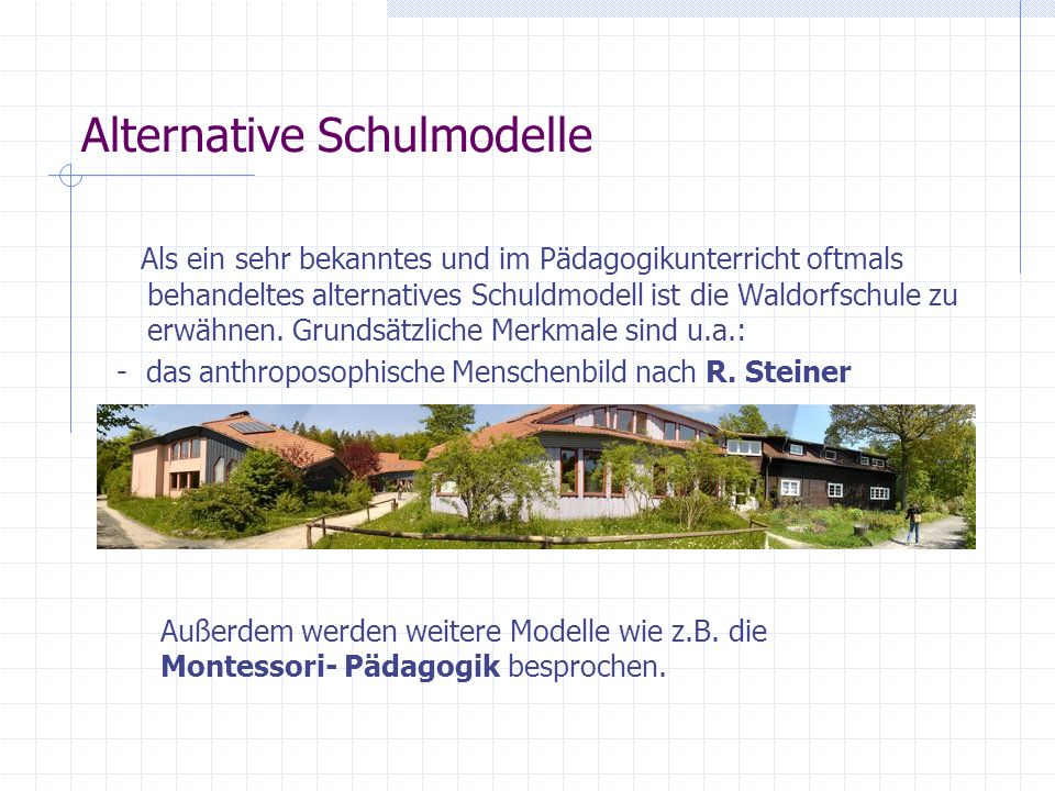 Alternative Schulmodelle