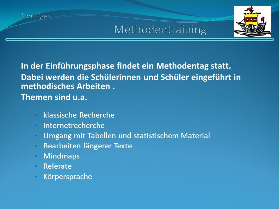 Sonstiges Methodentraining