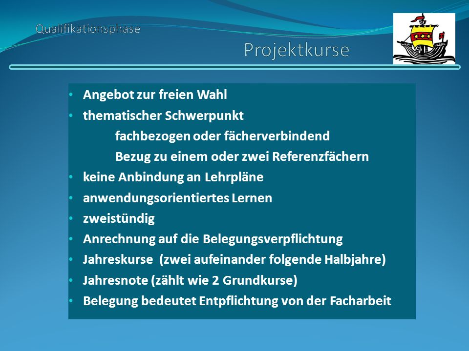 Qualifikationsphase Projektkurse