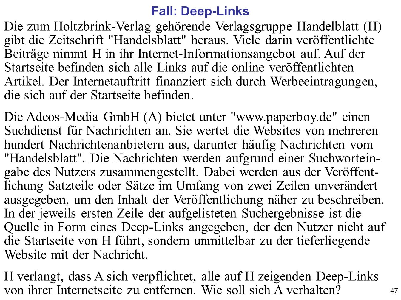 Fall: Deep-Links