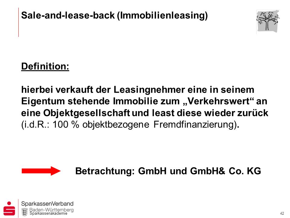 Sale-and-lease-back (Immobilienleasing)
