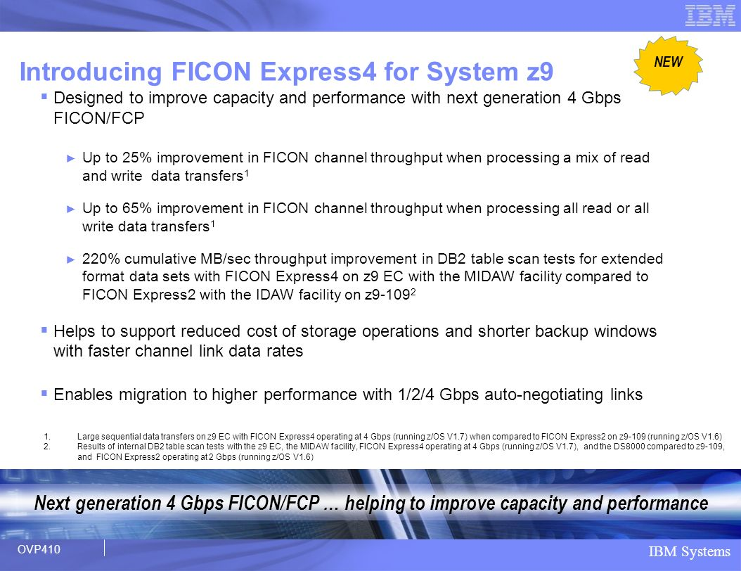 Introducing FICON Express4 for System z9