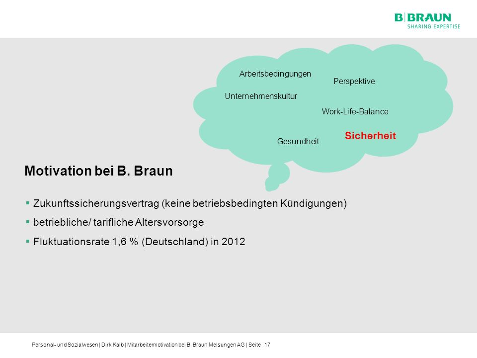 Motivation bei B. Braun Sicherheit