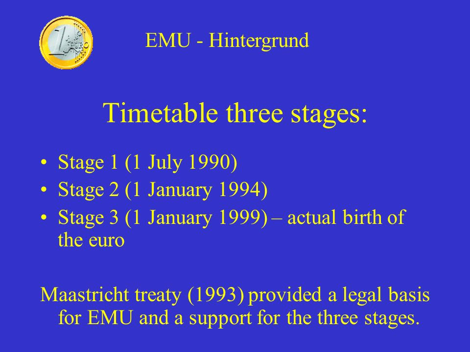 Timetable three stages: