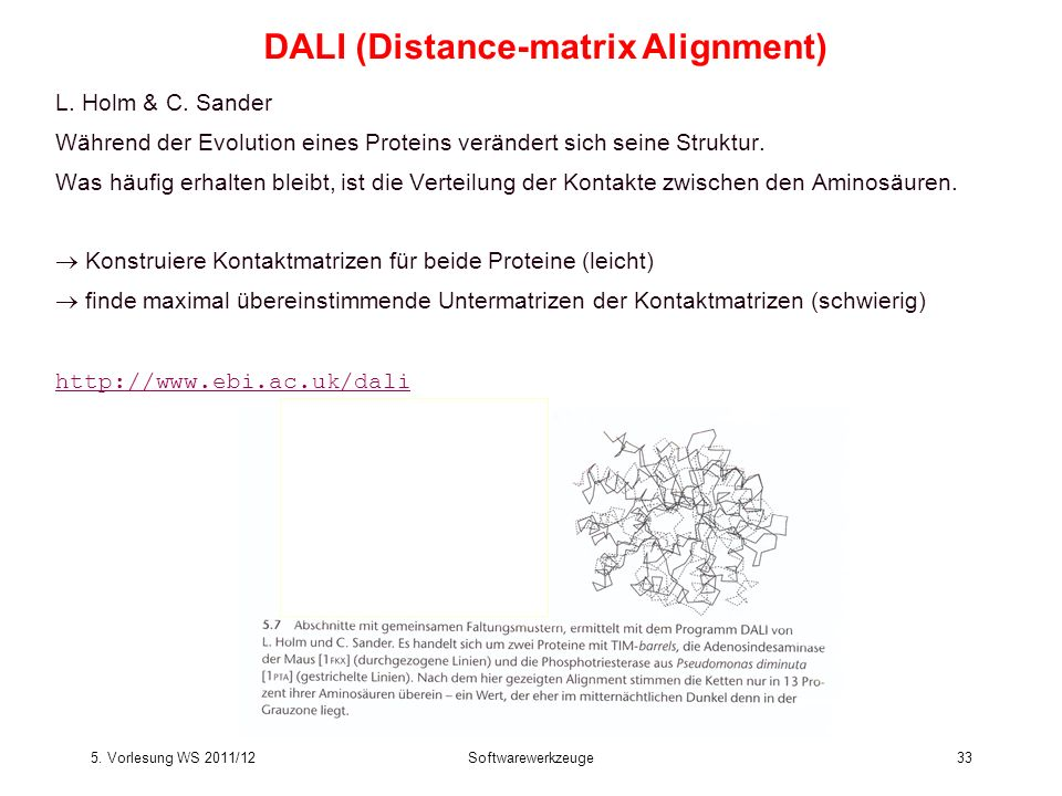 DALI (Distance-matrix Alignment)