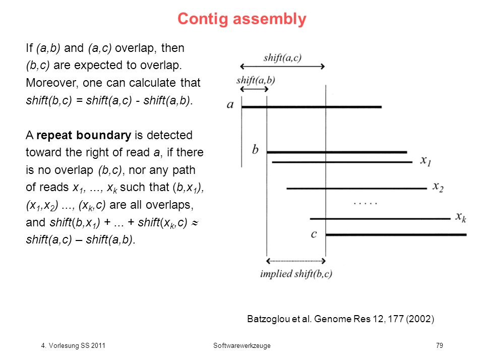 Contig assembly