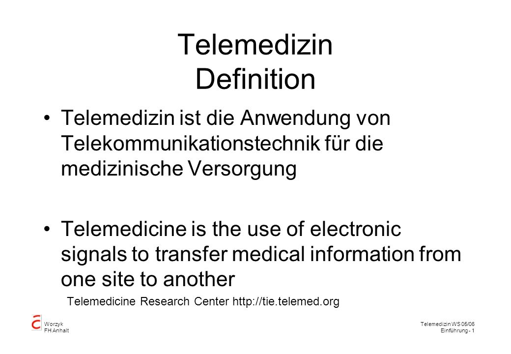 Telemedizin Definition