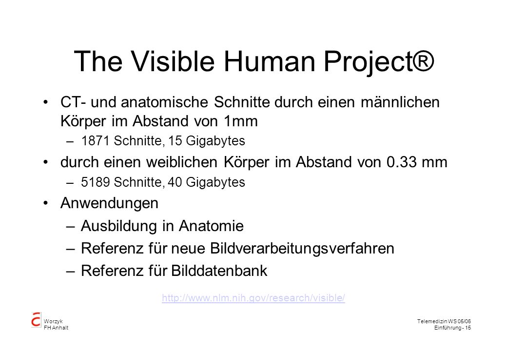 The Visible Human Project®