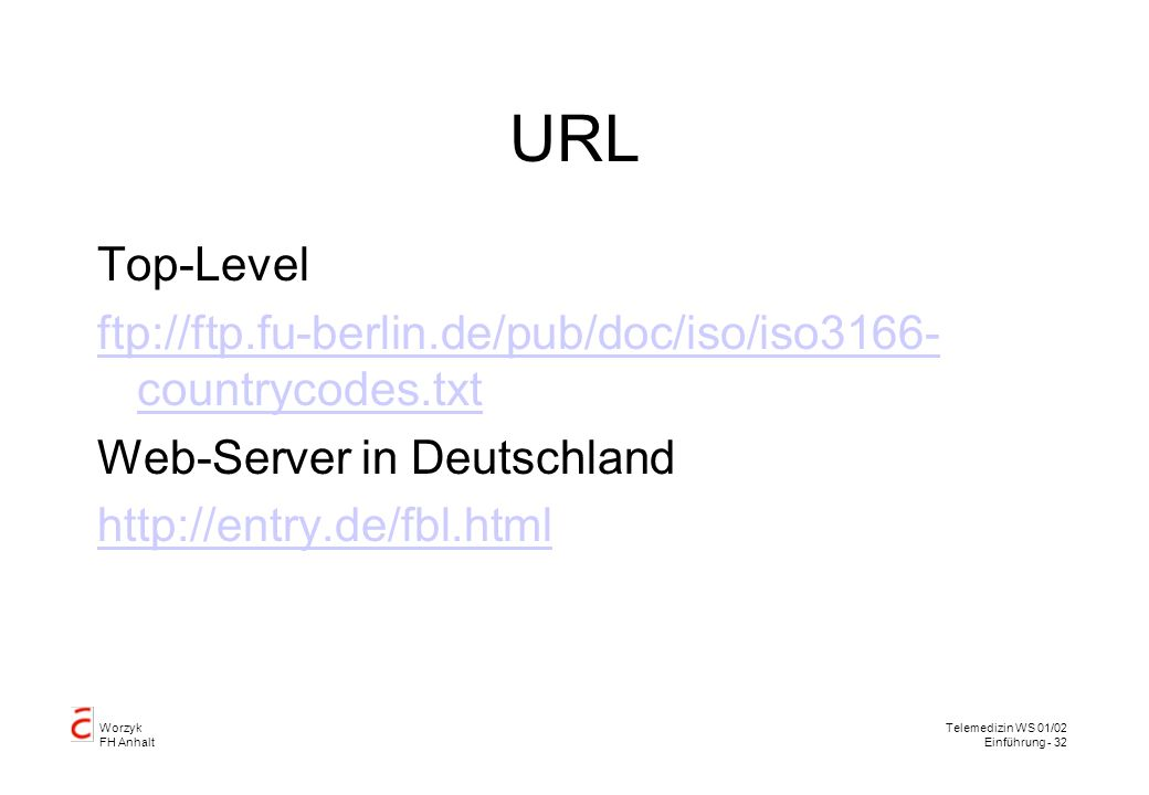 URL Top-Level. ftp://ftp.fu-berlin.de/pub/doc/iso/iso3166-countrycodes.txt. Web-Server in Deutschland.