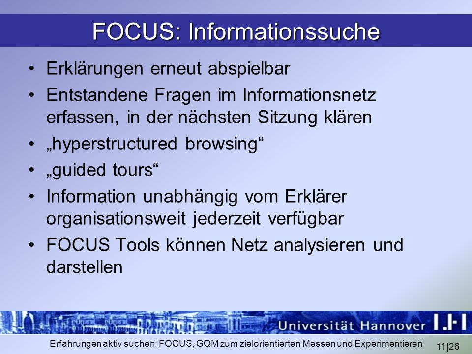 FOCUS: Informationssuche