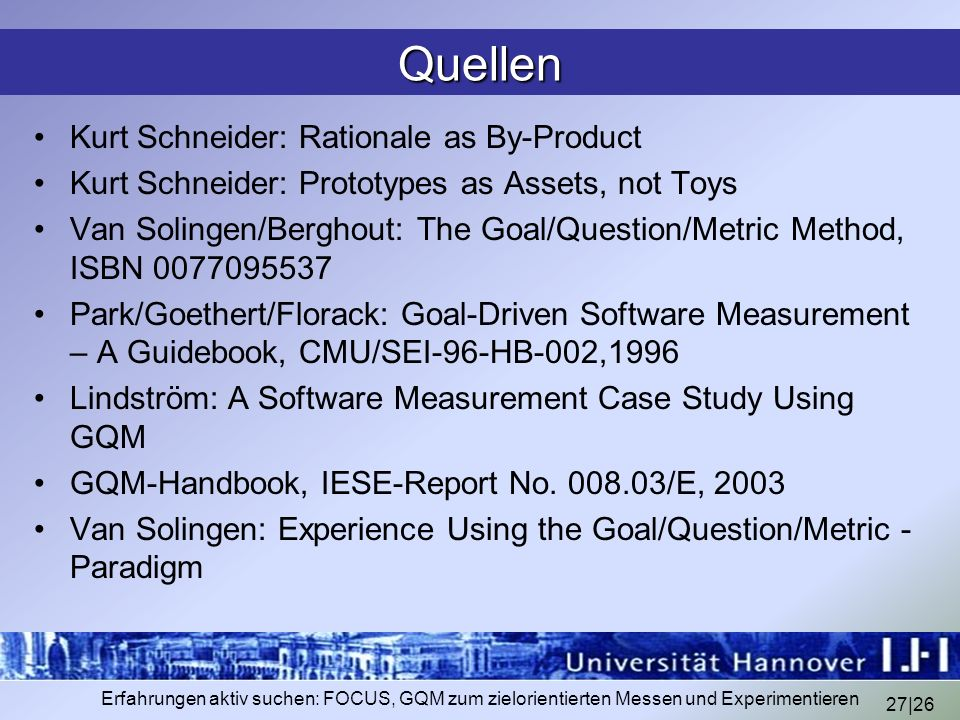 Quellen Kurt Schneider: Rationale as By-Product