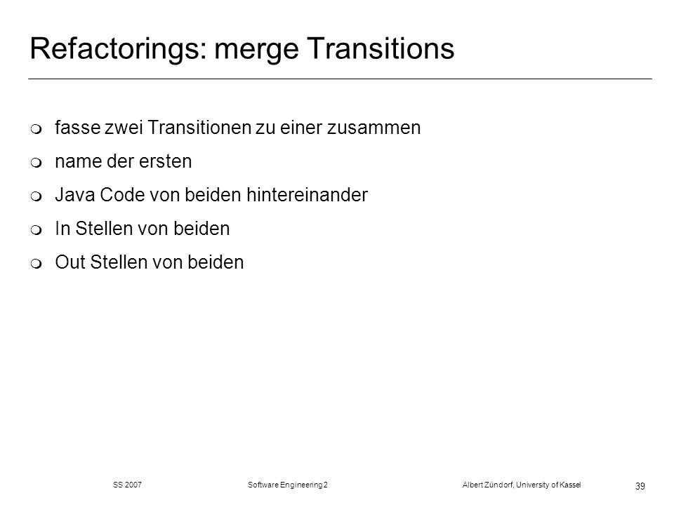 Refactorings: merge Transitions
